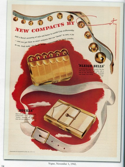 Coty compacts ad from Vogue.