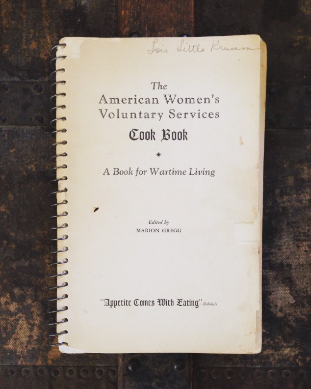 A book for wartime living . . .